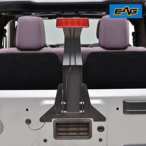 EAG Third Brake Light Mounting Bracket and Extension Wire Harness Fit for 07-17 Jeep Wrangler - Brake Jeep Light