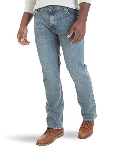 Wrangler Men's Regular Fit Comfort Flex Waist Jean, Slate 38x34 ()