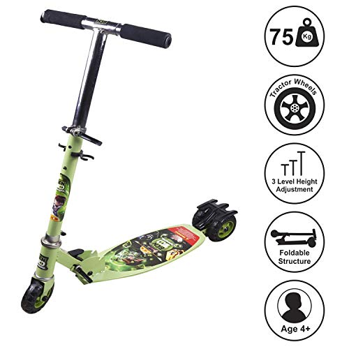 NIYAMAT®Ben 10 Kids Skate Kick Scooter with Adjustable Height {Latest 2020} [Made in India] Price & Reviews