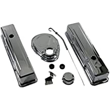 Assault Racing Products A3024 Chevy Small Block Chrome Dress Up Kit Tall Valve Covers - SBC 283 305 327 350 400