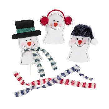 Snowman Sucker Covers - Christmas Party Supplies & Decorations & Party Goody Bags & Boxes