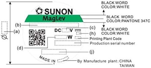 Fan Ventilateur 12V 1,2W 60x60x20mm 39,1m/³//h 33,5dBA ; Sunon MF60201V11000UA99