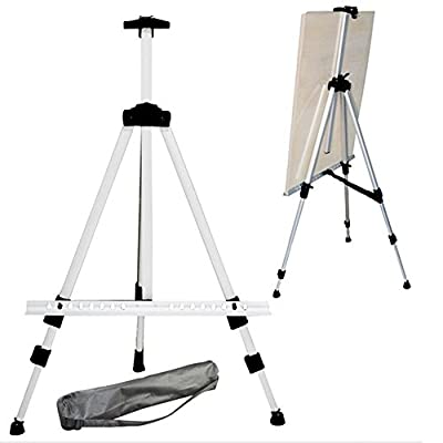 """Tosnail Lightweight Aluminum Field Folding Easel with Bag, Silver Color - 65"""" by Tosnail"""