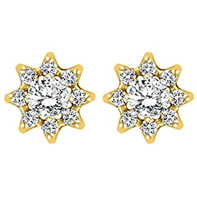 Sterling Silver Cluster Shaped Earring Jacket with White Sapphire 0.24 ct. tw.