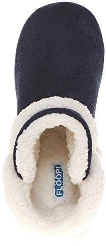 Floopi Womens Indoor Outdoor Sherpa Fur Lined Bootie Slipper W/Memory Foam Navy-201 jFBwG