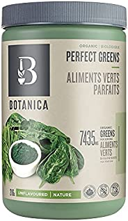 Botanica Organic Perfect Greens Powder, Unflavoured (27 Servings, 216 Grams) – Vegan, Gluten-Free Superfood wi