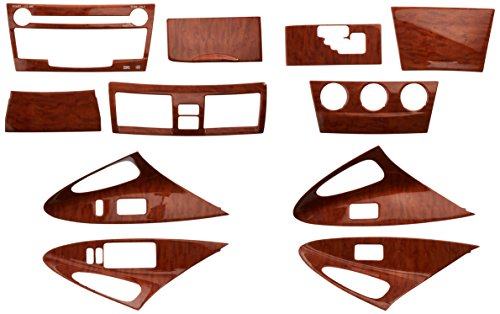 - TOYOTA Genuine Accessories PTS02-33081 Wood Grain Molded Dash Applique - 11 Piece