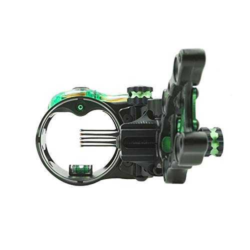 IQ Micro 5-Pin Right Hand Archery Bow Sight, Retina Lock Technology, All Aluminum, Multiple Bow and Quiver Mounting Points, Built-in Sight Level & Light Adapter.019 Pins
