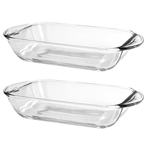 Anchor Hocking Oven Basics 1 Quart Mini Glass Bake Dish, Set of 2