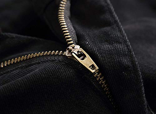 Casual Denier Nero Media Stretch Jeans Di Denim Moto Dritti Moda Uomo Giovane Da A Vita qHUEBv