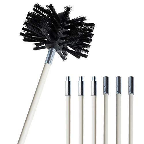 - JpettieDryer Vent Cleaning Kit Drill-Powered Rotating Air Duct Cleaning Rotary Dryer Vent Lint Brush, 8 Feet Flexible Durable Rods & Synthetic Brush Head