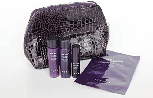 Hera Age Away Skincare Travel Pouch Set (Water/Emulsion/modifier/Mask pack)