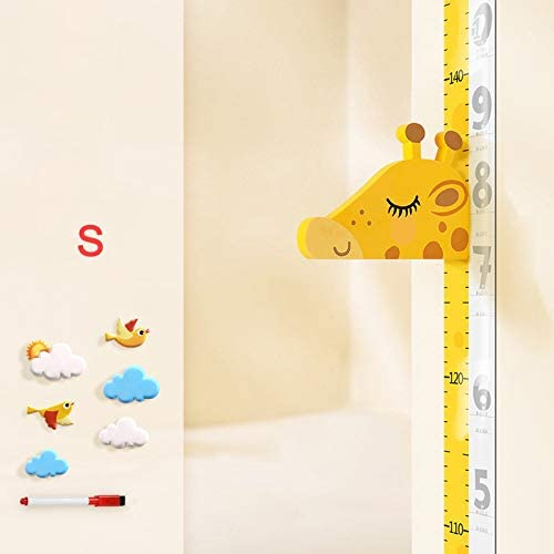 Wandofo Movable Giraffe Head Height Ruler Wall Stickers Baby Height Ruler Measurement Tool Height Measurement Ruler for Kids
