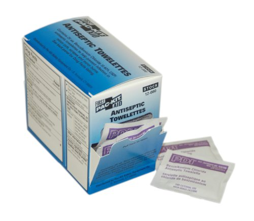 (Pac-Kit by First Aid Only 12-080 BZK First Aid Antiseptic Towelette (Box of 25))
