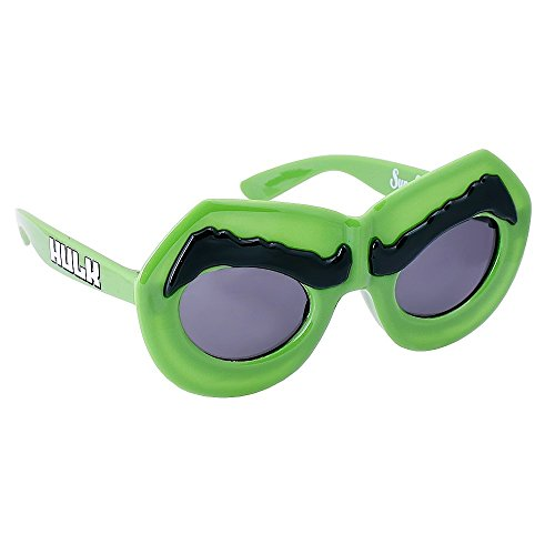 Sun-Staches Costume Sunglasses Marvel Lil' Characters Hulk Party Favors UV400 -