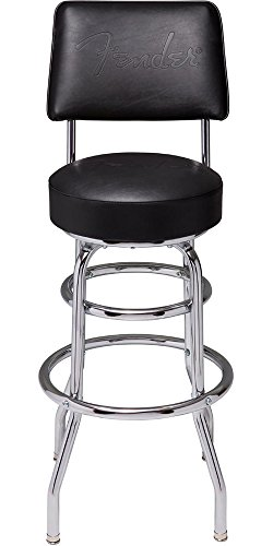 "Fender Barstool with Backrest 30"" BLK Guitar Tools"