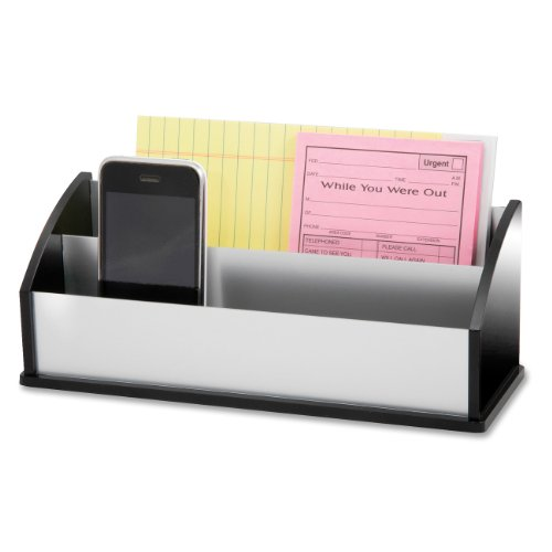 Kantek Black Acrylic and Aluminum Letter/Message Sorter, 10.25-Inch Wide x 3.5-Inch Deep x 4-Inch High (BA350) ()