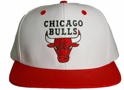 "NBA Adidas Chicago Bulls ""Classic Bulls Logo"" Flat Bill Snapback Cap"