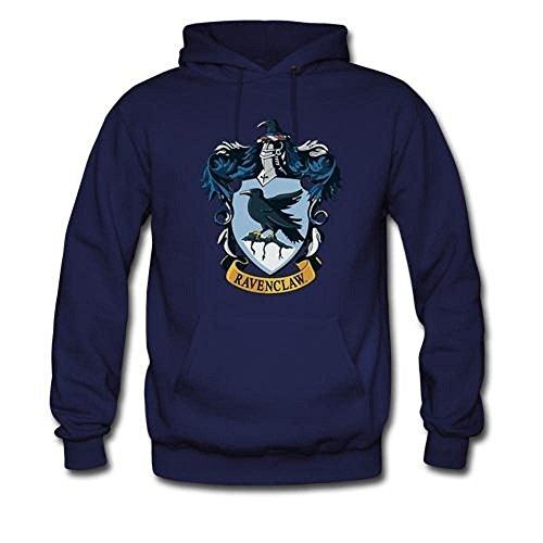 Mavis Custom Men's Harry Potter Ravenclaw Crest Gildan Hoodie Sweatshirt Darkblue Size M (Sweatshirt Embroidered Gildan)