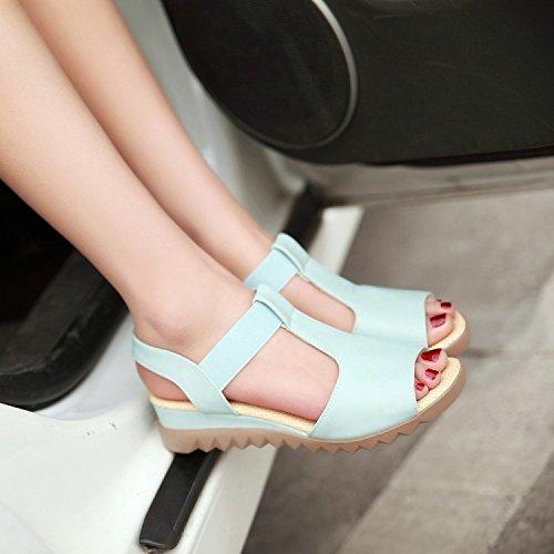 Zapatos Señoras Cómodas Sandalias Las NVLXIE Ocio Muchachas de 4cm Ocio blue Colores Antideslizantes del de Las del los Perezosos Cuatro nqPIxtR