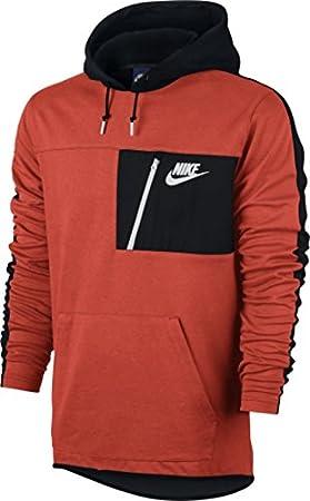 Orange Nsw M max Po Sudadera Flc Naranja Nike Hoodie Av15 Hombre SUnUvW