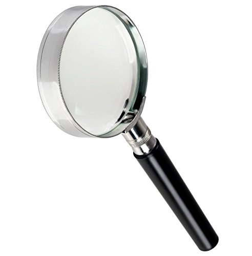 Handheld 10X Magnifier Magnifying Glass with Handle Best Gifts for Seniors