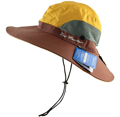 9e4e5863 Gizmoway Unisex Large Brimmed Adjustable Fishing Hats Boonie Sun Hat UPF  50+ Sun UV Protection
