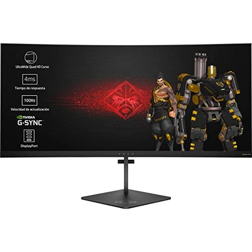 chollos oferta descuentos barato HP OMEN X 35 Monitor Gaming para PC Desktop G sync Altura Ajustable de 88 90 cm 35 pulgadas 300 cd m 3440 x 1440 pixeles 4 ms LED UltraWide Quad HD