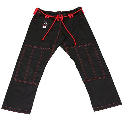 KO Sports Gear's Black Gi Pants - Rip Stop - For Jiu Jitsu ()