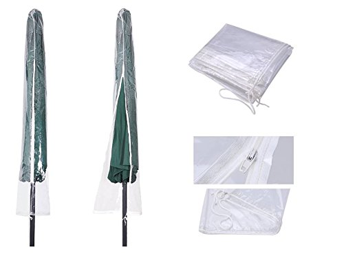 SW- Patio Market Outdoor Waterproof PVC Umbrella Protective Canopy Cover Bag fit (Transparent for 5: to 10'' Umb) by STARWORLD