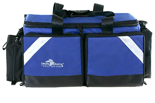 (Iron Duck 34018-RB Ultra Breathsaver Airway Management System Bag for Class D or Jumbo D Oxygen Tank with Ergonomic, Adjustable Shoulder Strap and Nylon Hand Straps, Royal Blue Nylon …Made in the USA!)