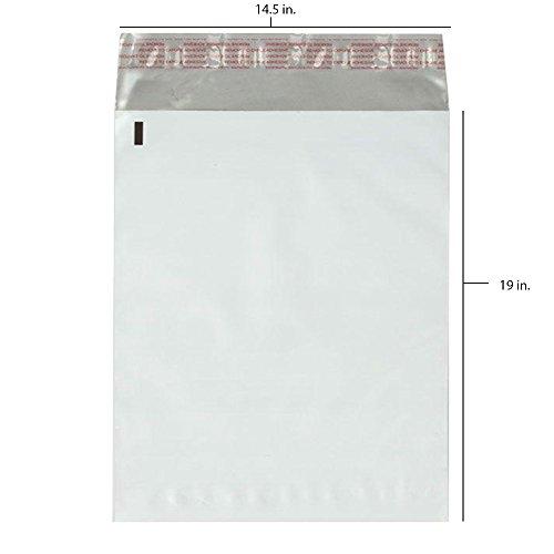 - 100 - 14.5x19 Fosmon Self-Seal Tear-Proof Polyethylene Mailers (100 Pack)
