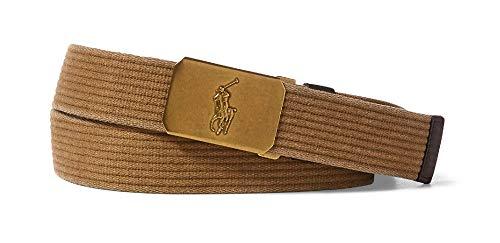 POLO RALPH LAUREN Men's Plaque-Buckle Cotton Belt (L)
