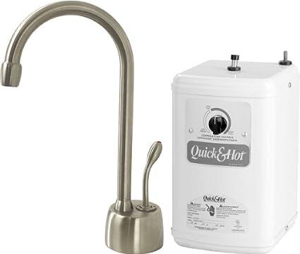 Satin Nickel 1 Handle Instant Hot Water Dispenser Kitchen Faucet