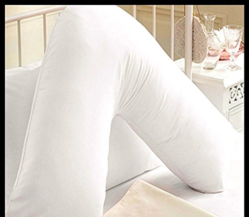 Bedding Home Super Comfy Cuddly Large Extra Filled Bolster Pillows Non-Allergic (V Pillow)