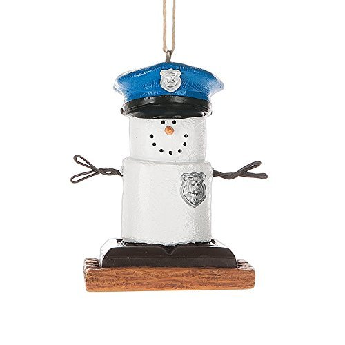 S'Mores Policeman Christmas/ Everyday Ornament -