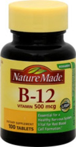 Nature Made Vitamin B-12 500 Mcg, Tablets, 600-Count , Made-4ywy by Nature Made