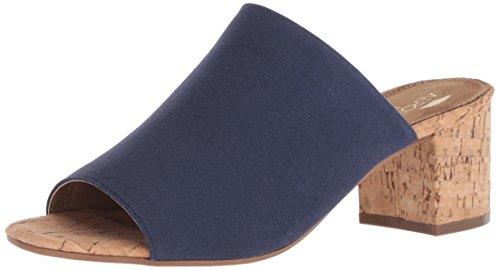 - Aerosoles Women's MID Level Heeled Sandal, Dark Blue Fabric, 9.5 M US