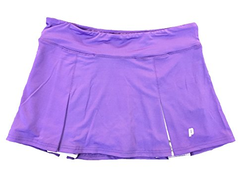 Prince Girl's Stretch Knit Athletic Tennis Skort, Purple, X-Large
