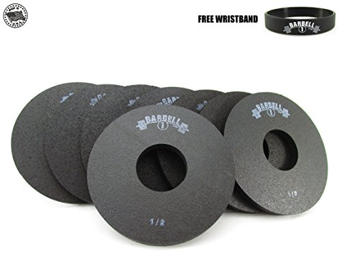 (Barbell 1 Half Pound Fractional Rubber Olympic Weight Plates - 2, 4, 6, or 8 Pc Set (8 Plates, 1/2 lb.) )