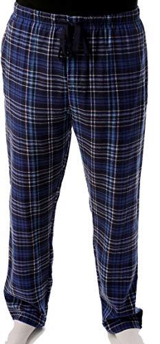 #followme Mens Flannel Pajama Pants 45905-9, Blue - Plaid, Medium