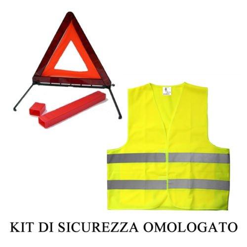KIT SOS EMERGENZA TRIANGOLO DI EMERGENZA + GIUBBOTTO CATARIFRANGENTE X-ONE