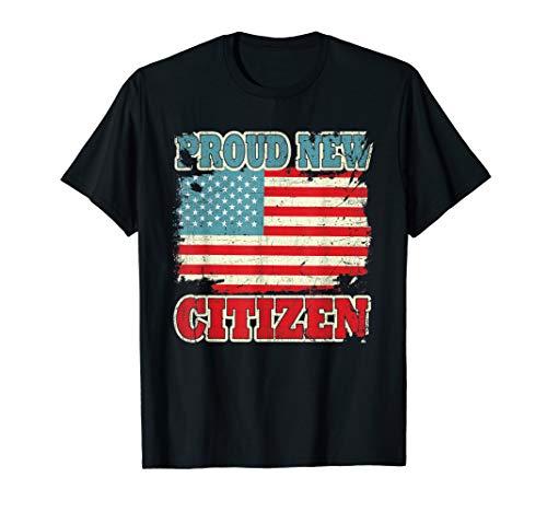 Proud New Citizen USA American Citizenship T-Shirt (Citizen White T-shirt)