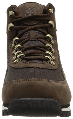 Hohe With Brown Hiker Braun Sneakers Timberland Leather Fabric Herren Euro Dark 415qY