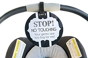 Baby Safety Sign Please Dont Touch For Baby Newborn Stroller Tag Car Seat Sign Shower Gift A Great Variety Of Goods Mother & Kids Strollers Accessories