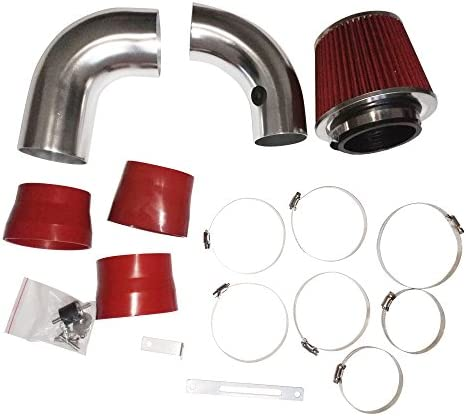 Red Perfit formance Cold Air Intake Kit With Turbine Filter fit for Chevrolet GMC Isuzu Oldsmobile with 4.3L V6 1996 1997 1998 1999 2000 2001 2002 2003 2004 2005