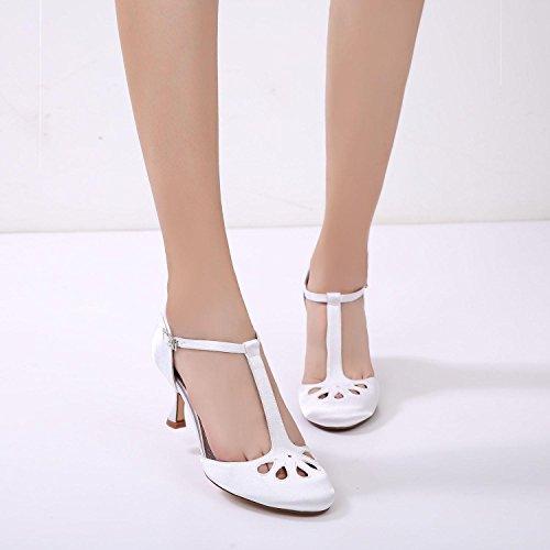 L@YC Mujeres Wedding F17061-28 Party Evening Dama de Honor Zapatos de Tacón Bajo/Zapatos de Boda Personalizados Ivory
