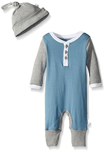 Baby Coverall (Burt's Bees Baby Baby Organic Coverall, Atlantic Henley, 3-6 Months)