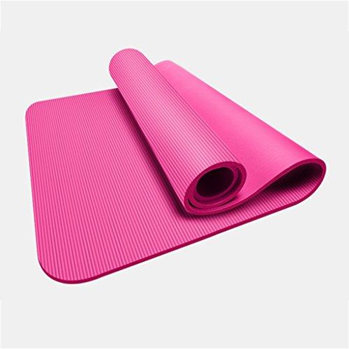 LILY Épaississez et élargissez de longs tapis de yoga antidérapants, tapis de fitness doux et confortable de haute densité, 185 * 80 Cm
