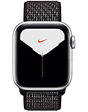 nylon loop band for apple watch series 5, 44mm black color - 2019922